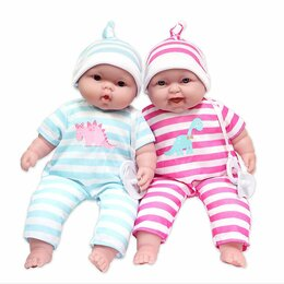 Куклы и пупсы - Пупсы Berenguer JC Toys Двойняшки мягкие 33 см (JC35024) Оригинал, 0
