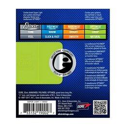 Струны - Elixir 19002 Optiweb Набор струн для 6-струнной электрогитары, размер 9-42, 0