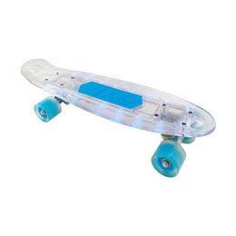Скейтборды и лонгборды - Скейтборд Navigator прозрачный, пластиковые светящиеся колеса арт.Т20015, 0