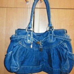 Сумки - Новая джинсовая сумка, 0