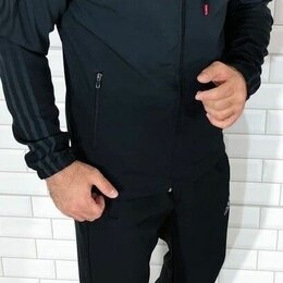 Спортивные костюмы - Тёплый мужской спортивный костюм р-ры 48-58, 0