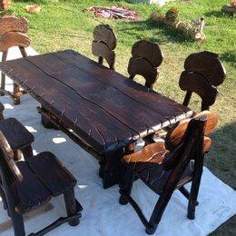 Комплекты садовой мебели - Мебель из массива, деревенский стиль, 0