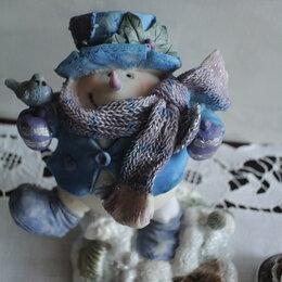 Новогодние фигурки и сувениры - Фигурка Снеговика с пружинной ногой. Сделано в Нидерландах., 0