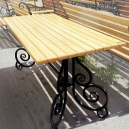 Столы - Стол садовый (дачный) кованый СтП, 0