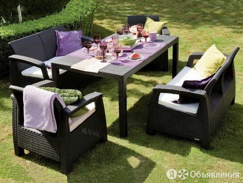 Комплект садовой мебели Corfu Russia Fiesta, коричневый по цене 50000₽ - Комплекты садовой мебели, фото 0