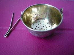 Подставки и держатели для украшений - серебряное ситечко, 0