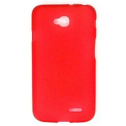 Чехлы - Силиконовый чехол для LG L70 D325 (красный), 0