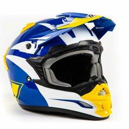 Мотоэкипировка - Шлем THH TX - 24 BLU/YEL MACH II (L), 0
