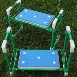 Скамейки - Скамейка перевёртыш складная садовая Ника трансформер до 100 кг мягкое сиденье, 0