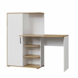 Компьютерные и письменные столы - Письменный стол Лайт 1420 белый/дуб золотой, 0