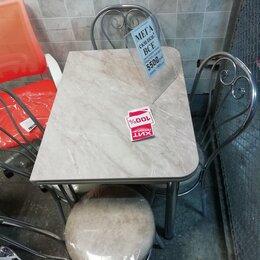 Столы и столики - обеденный кухонный стол раскладной пластик под мрамор, 0