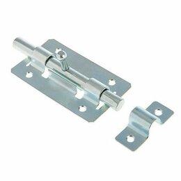 Защелки и завертки - Задвижка дверная ЗД-01 пол.серебро Кунгур, 0