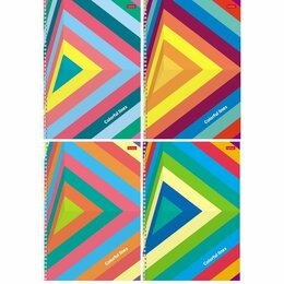 Аксессуары для садовой мебели - Тетр  А4 80л кл спир Хатбер Colorful line 80Т4В3гр /28, 0
