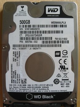 Внутренние жесткие диски - Жесткий диск WD 500Gb 7200RPM Sata для ноутбука, 0