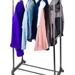 Вешалки напольные - Вешалка с 2 перекладинами штангами для одежды новая, 0