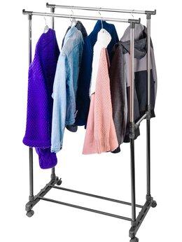 Вешалки напольные - Вешалка с 2 перекладинами штангами для одежды…, 0