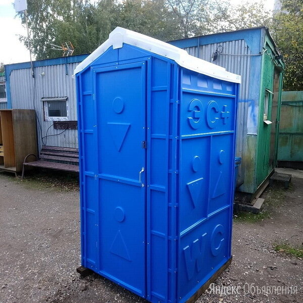 ✅ Биотуалет новый - ⭐ Туалетная кабина для дачи и стройки синяя по цене 3000₽ - Биотуалеты, фото 0