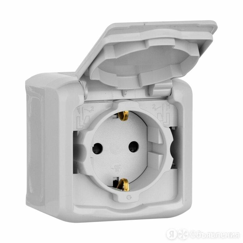 Розетки Quteo Legrand Розетка с заземлением с защитными шторками IP44 (серый)... по цене 424₽ - Электрические щиты и комплектующие, фото 0