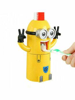 Мыльницы, стаканы и дозаторы - Дозатор зубной пасты с держателем детский, 0