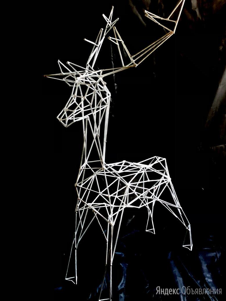 Светодиодные уличные фигуры «Олень».  по цене 11900₽ - Садовые фигуры и цветочницы, фото 0