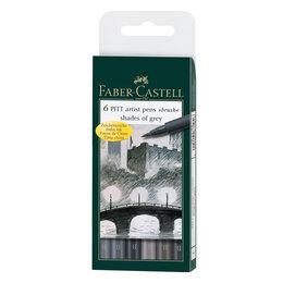 """Аксессуары - Набор капиллярных ручек Faber-Castell """"Pitt Artist Pen Brush"""" оттенки серого,..., 0"""