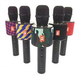 Микрофоны - Микрофон для караоке беспроводной Microphone V8 (Микрофон В8). Желто-синий, 0