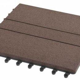 Паркет - Садовый паркет Комфорт 1 Grinder / Гриндер ДПК, 300x300 мм, цвет шоколад, упаков, 0
