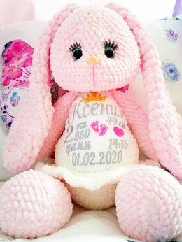 Мягкие игрушки - Плюшевый заяц с метрикой, 0