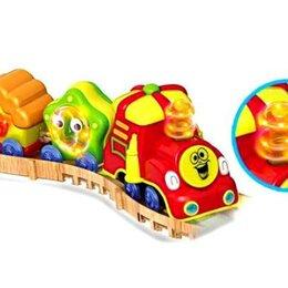 Детские железные дороги и автотреки - Железная дорога Веселые вагончики 100647647, 0