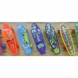 Скейтборды и лонгборды - Пении борд широкие прозрачные мягкие светящиеся колеса , 0