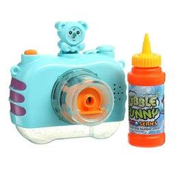 Мыльные пузыри - Генератор мыльных пузырей «Фотоаппарат с мишкой» МИКС, 0