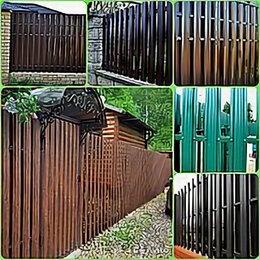 Заборы и ворота - Штакетник металлический GL 0,45 RAL 8012, 0