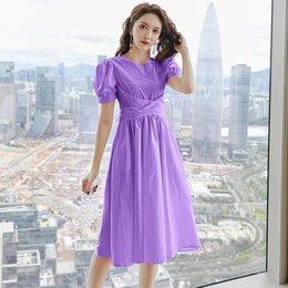 Платья - Фиолетовое летнее платье, 44, 0