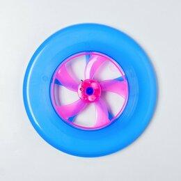Фрисби - Тарелка летающая, световая, цвета МИКС, 0