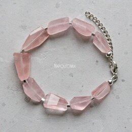 Браслеты - Браслет из мадагаскарского розового кварца и…, 0