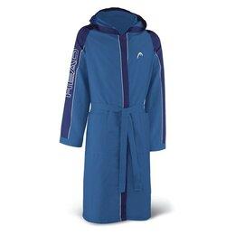 Домашняя одежда - Халат HEAD Мужской, с капюшоном и карманами, из ми, 0