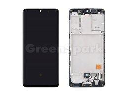 Дисплеи и тачскрины - Дисплей для Samsung A415F Galaxy A41 в рамке +…, 0