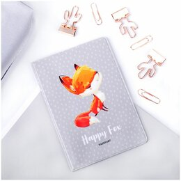 Обложки для документов - Обложка для паспорта MESHU «Happy Fox», ПВХ, 2…, 0