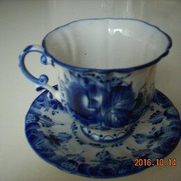 Кружки, блюдца и пары - Чайная пара Гжель., 0