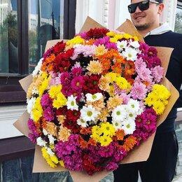 Цветы, букеты, композиции - Букет из ярких кустовых хризантем, 0