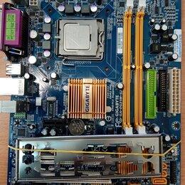 Материнские платы - Комплект плата + четырехядерный процессор + охлаждение, 0