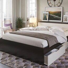 Кровати - Кровать с матрасом с ящиками для белья и матрасом  пружинным, 0