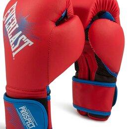 Боксерские перчатки - Перчатки боксёрские детские EVERLAST PROSPECT PU, P00001644, Красный, 8 унций, 0