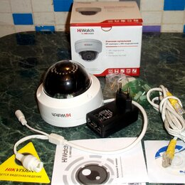 Камеры видеонаблюдения - HiWatch DS I122 - купольная IP-камера с IR-подсветкой, 0