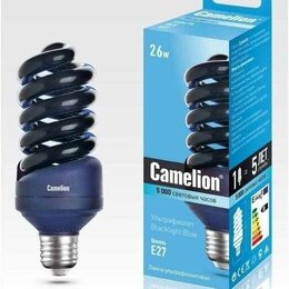 Лампочки - Энергосберегающая лампа UV Black Lite E27 (26 Вт), 0