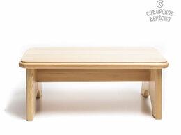 Стулья, табуретки - Скамейка деревянная низкая  H16. Подставка для ног, 0