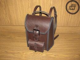 Рюкзаки - Рюкзак из натуральной кожи с оплеткой, 0