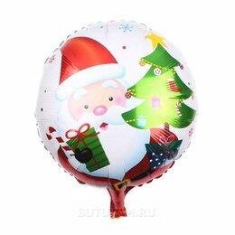 """Украшения и бутафория - Воздушный шарик 18""""/45см Дед мороз с подарками фольгированный, 0"""