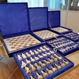 Настольные игры - Шахматы из камня подарочные к 23 февраля, 0