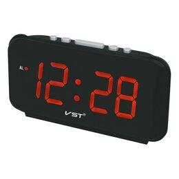 Часы настольные и каминные - Часы электронные 8061 (красные -цифры), 0
